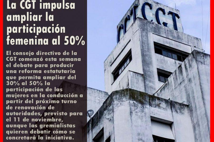 La CGT impulsa ampliar la participación femenina al 50%