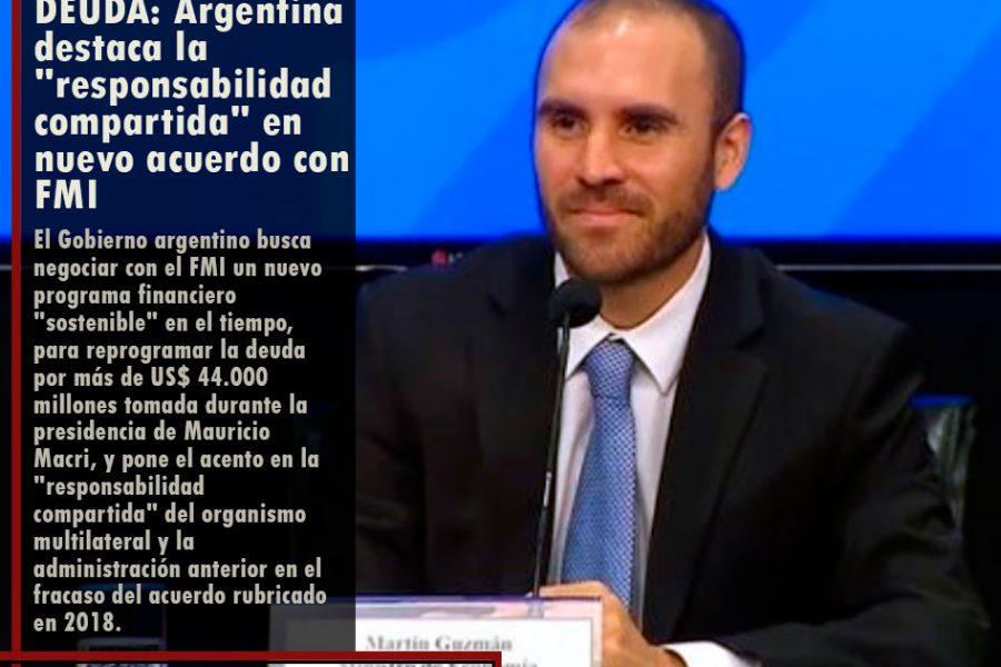 DEUDA: Argentina destaca la «responsabilidad compartida» en nuevo acuerdo con FMI