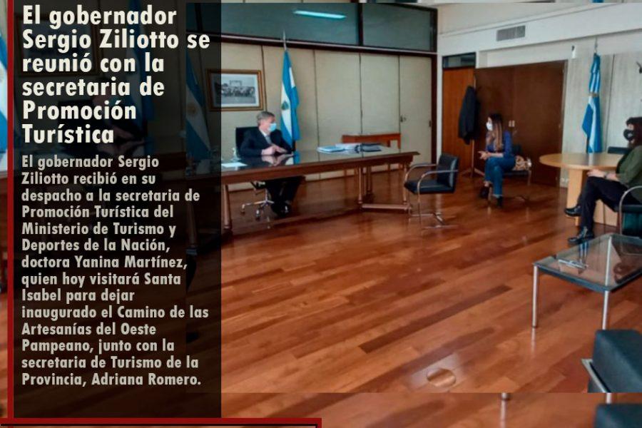 El gobernador Sergio Ziliotto se reunió con la secretaria de Promoción Turística