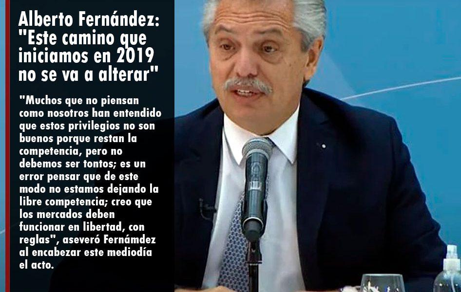 Alberto Fernández: «Este camino que iniciamos en 2019 no se va a alterar»