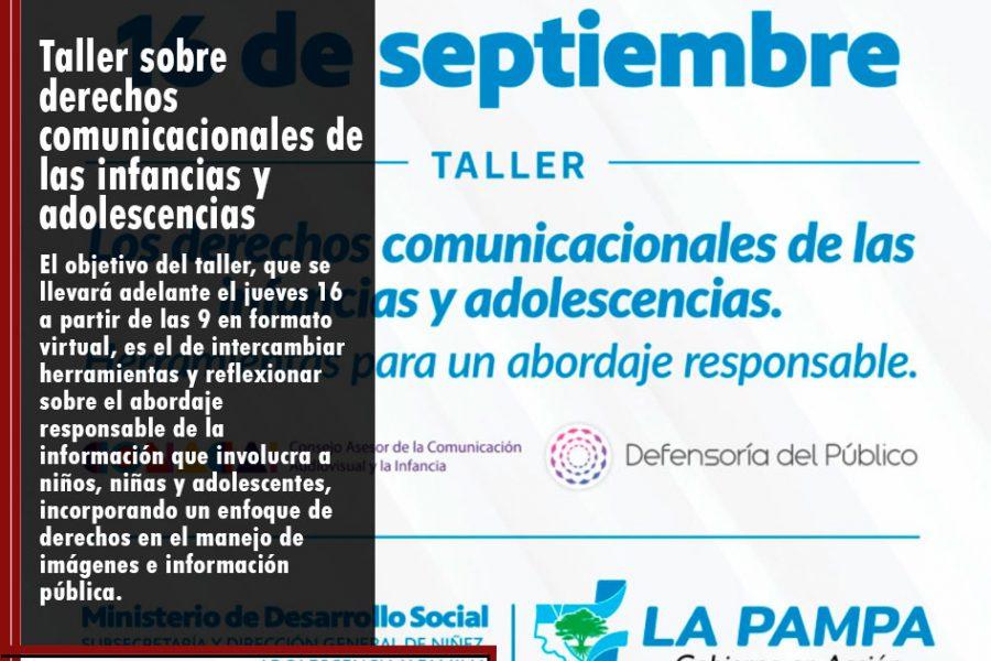 Taller sobre derechos comunicacionales de las infancias y adolescencias
