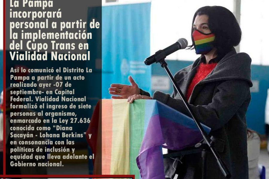 La Pampa incorporará personal a partir de la implementación del Cupo Trans en Vialidad Nacional