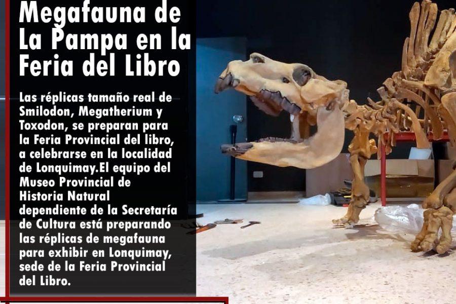 Megafauna de La Pampa en la Feria del Libro