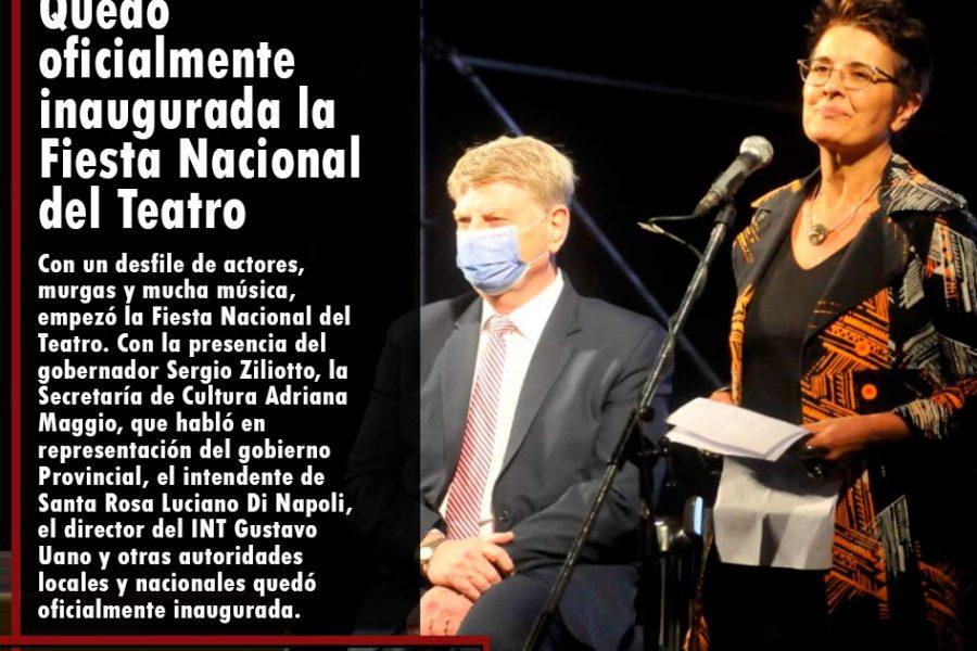 LA PAMPA: quedó oficialmente inaugurada la Fiesta Nacional del Teatro